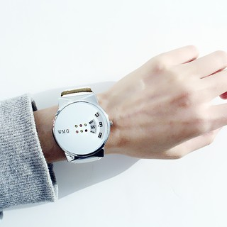 Personality, creative, cute couple watch, fashion, fashion watch, student, white