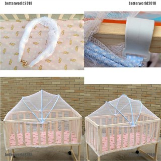 [Better] Portable Baby Crib Mosquito Net Multi Function Cradle Bed Canopy Netting [World]
