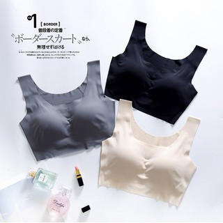 【Ready stock】Seamless Vest Women Sports Yoga Bra No Wire Padded Sleep Underwear