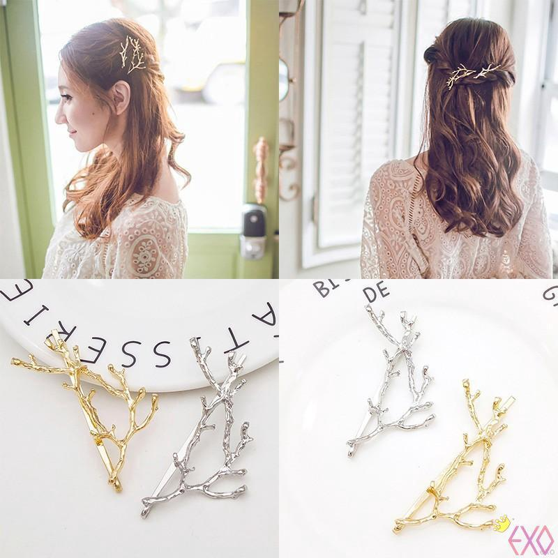 Hot Sweet Antler Twig Branch Hair Clip Alloy Hair Pin Hair Accessories Beauty