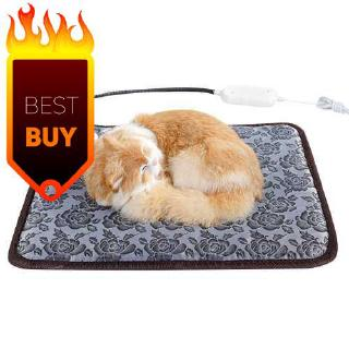 Pet Dog Cat Heating Pad Waterproof Warmer Mat Bed for Dogs Cats 45*45cm (Eu)
