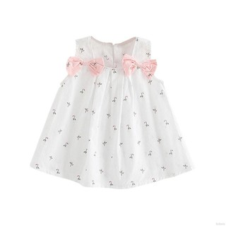 BOBORA Summer Baby Girl Princess Wedding Party Clothes Bow-knot Flower Dress