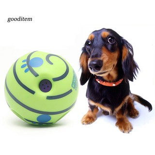 GDTM_Funny Pets Dog Cat Wobble Wag Chewing Sound Ball Puppy Playing Training Toy