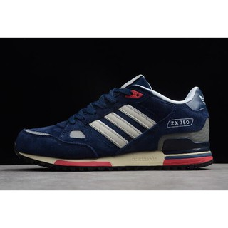 Men's Adidas ZX 750 Navy Blue/White Q35065 1830208179