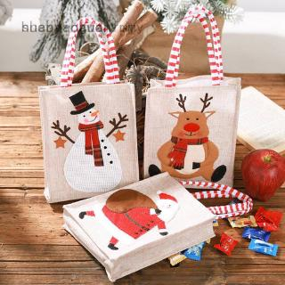 shenyangwolf  Christmas Xmas Santa Claus Linen Stereo Embroidery Gift Bag Drawstring Bags