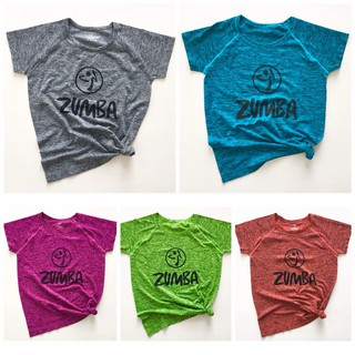 Blue Women Zumba Short Sleeve