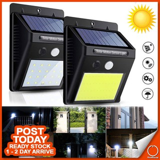 Free Energy Money Saving Solar Power Motion Sensor 20 30 40 COB LED Light Weather & Water Proof 3 Modes Auto On Off Dim