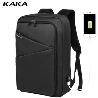 【Fast delivery】KAKA New Men Laptop Backpack Waterproof Anti-theft Bagpack with USB Charger