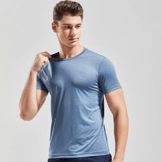 TAPOO summer new men's European and American style Slim solid color fitness short-sleeved T-shirt