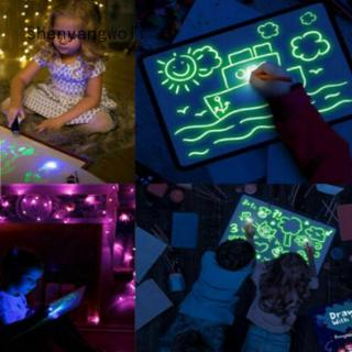 LED Luminous Drawing Board Graffiti Doodle Drawing Tablet Magic Draw With Light-Fun Fluorescent Pen Educational Toys