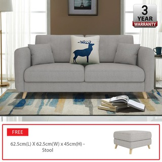 ROOSEVELT 3 Sofa Home Living Room Furniture with FREE Stool