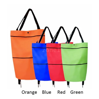 ZONE B11-46 Shopping Trolley Bag Portable multi-function Oxford Folable Tote bag Shopping Cart Reusable Grocery Bags wit