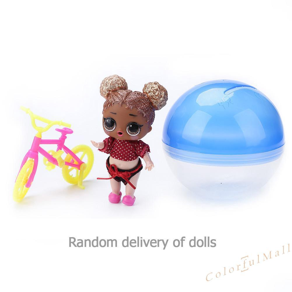 10cm Random Doll Surprise Dress Up Doll Ball Demolition Egg Baby Toys