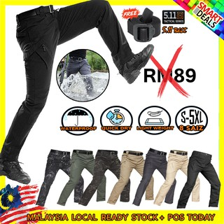 FREEBELTWATER RESISTANT CARGO PANTS TAKTIKAL MILITARY SELUAR CARGO TACTICAL MEN LONG PANTS COMBAT SWAT LONG TROUSERS