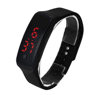 Hot SaleDigital LED Display Sports Jelly Silicone Band Men Women Children's Wrist Bracelet Watch 【Ready stock】
