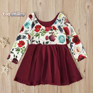 Baby FashionFloral Chic Toddler Baby Long Sleeve Spring Autumn Sweet Dress