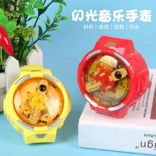 Creative cartoon flash music bracelet watch new light-emitting toys children small gifts