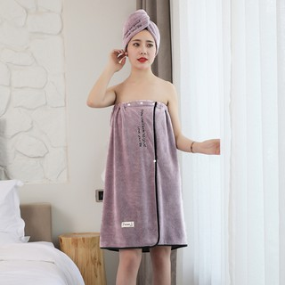 bathrobeTowel bath woman can wear wrapped in a three-piece set than pure cotton absorbwater speed dry adult large fami