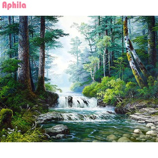 Aphila Diamond Embroidery Full Drill Diamond Painting Waterfall Forest 5D Diy