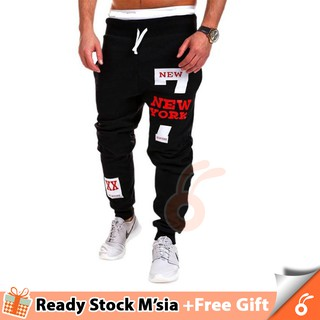 0112 NICHOLAS Mens Joggers Male Trousers Men Pants [Free Gift: RANDOM]