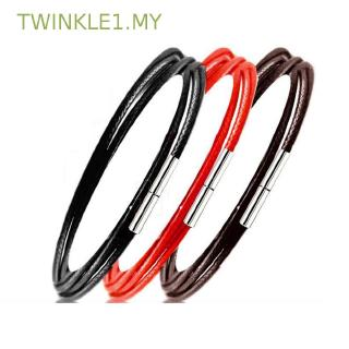 TWINKLE1.MY String For Women Rotary Buckle Steel Stainless Clasp Braided Necklace