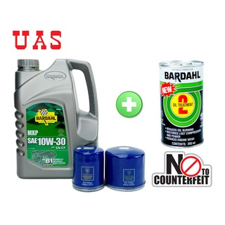 BARDAHL MXP SAE 10W-30 API SN/CF MINERAL ENGINE OIL 3 US QUART+ PROTON OIL FILTER(PW510253/PW811577) + OIL TREATMENT