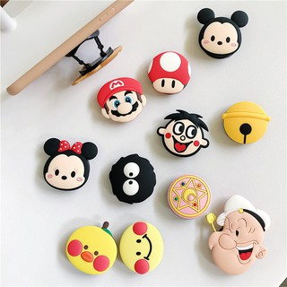 Cute Korean cartoon silicone bracket new folding lazy ring bracket mobile phone universal anti-drop bracket couple