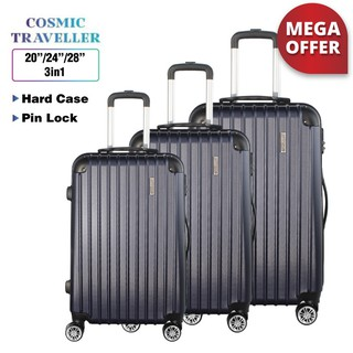 [Mega Offer] Cosmic Traveller Business Protector ABS 3 in 1 Luggage Bag Set (28