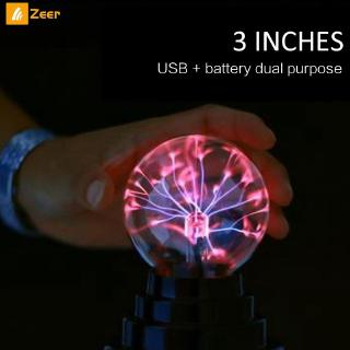 3-inch USB Lightning Electrostatic Ion Magical Crystal Ball Lamp Bedroom Decoration 『Zeer 』