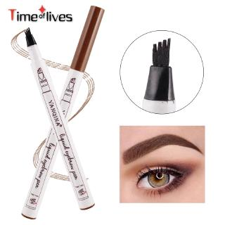 TF▶ 4 Head Waterproof Eyebrow Pencils Makeup Cosmetics Light Brown Dark Grey