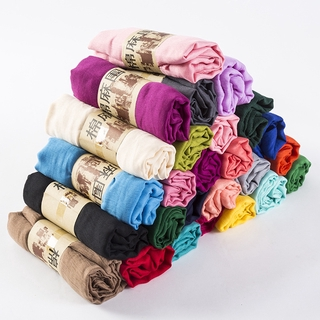 New Scarf Pure Candy Color Cotton Silk Scarf Shawl Dual Purpose Thermal Collar