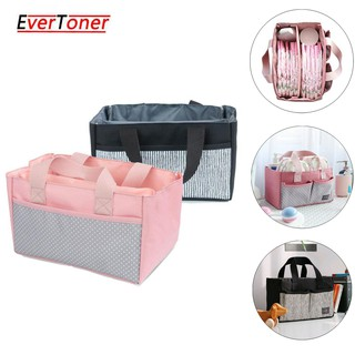 EverToner Baby Diaper Caddy Organizer Nursery Storage Bag for Diapers Wipes & Toys Portable Car Storage Basket