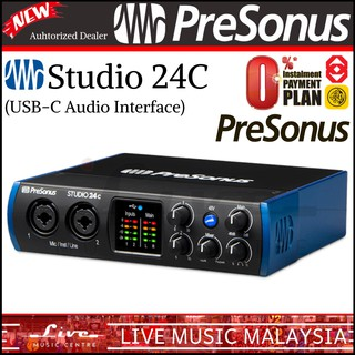 PreSonus Studio 24c USB-C Audio Interface / portable, ultra-high-def