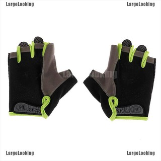 LargeLooking Road Bike Cycling Half Finger Gloves BMX Bicycle Riding Race Fingerless