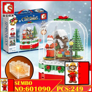 Christmas Model 2019 Sembo 601090 , 601091,601094 Santa Claus And Reindeer Building Blocks 森宝 601090 , 601091 圣诞老人雪橇驯鹿