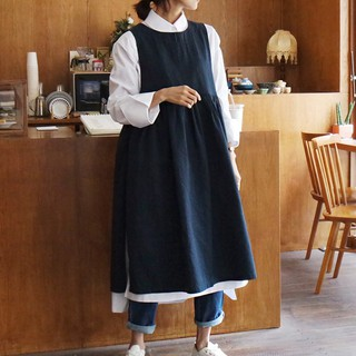 ┃【зSpring 2019-Women's Clothing Suspender Skirt New Korean Version Was Thin Loose Lace-up Sleeveless Vest Dress Long D