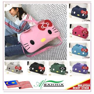 5R4 Al Sahhia Ready Stock Cute Hello Kitty Travel Luggage Handbag Casual Bag