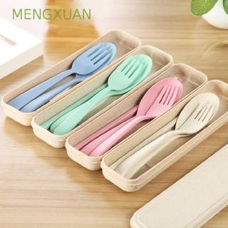 MENGXUAN Cutlery Sets Kids School Gift Outdoor Travel Tableware Dinnerware