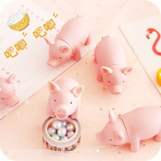 Creative hand pinch decompression powder pig soft cute cute will be called pig squeezing music whole toy decompression v