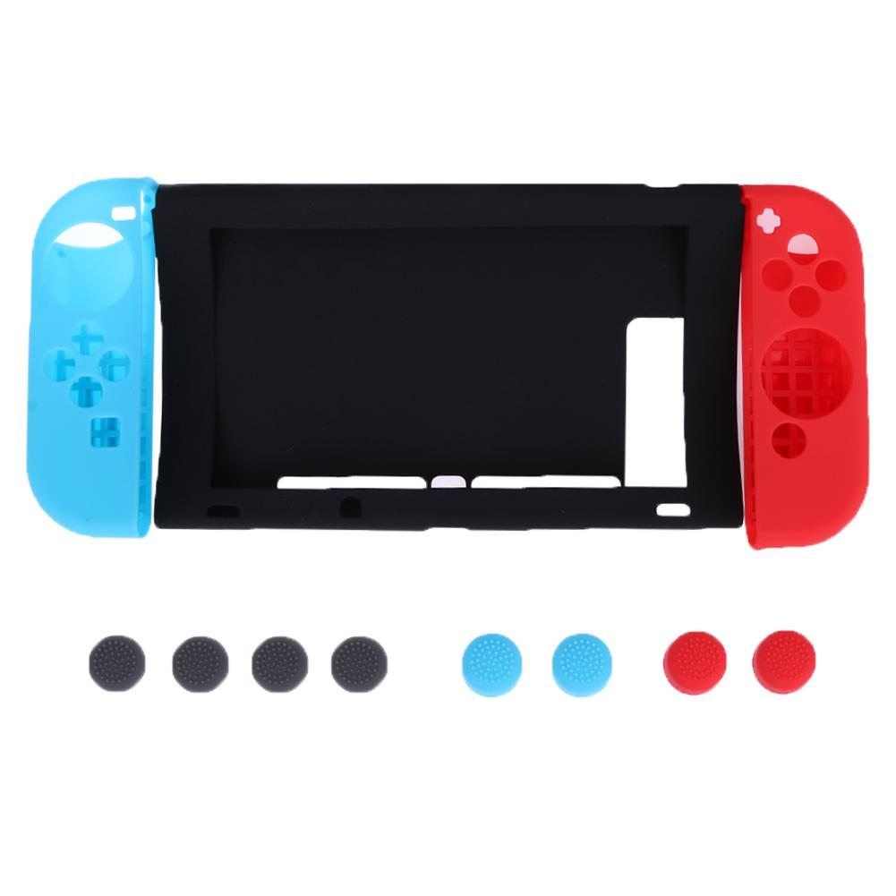 Anti-slip Silicone Cover Skin Case Protection Kit for Nintendo Switch WF