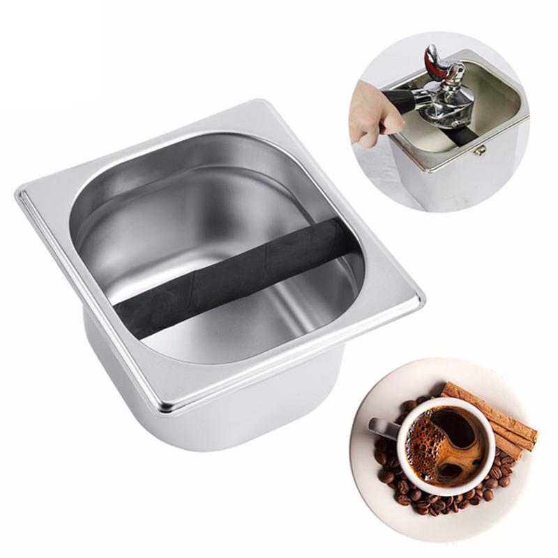 Stainless Steel Coffee Knock Box Container Coffee Grounds Container Coffee Tools
