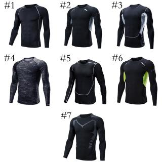 Men's Long Sleeve Sportswear Fitness Football Sweatshirt Basketball Running T-Shirt Quick-drying
