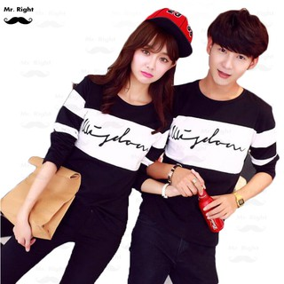 Mr.Right Couple T-Shirt Pakaian Pasangan Fashion Couple Wear The King And His Queen