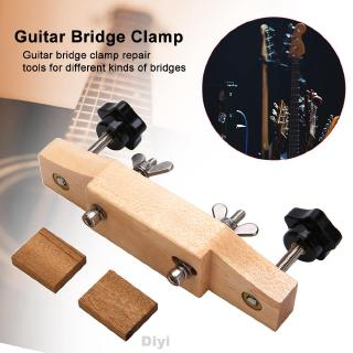 Maintenance Durable Safe DIY Repair Accessories Install Luthier Tool With Cork Gasket Solid Wood Guitar Bridge Clamp
