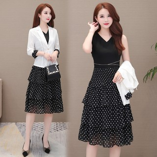 Dress suit two-piece dress female high-end fashion