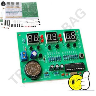 [Flash Deal] DIY Kit Module AT89C2051 9V-12V LED 6 Digital Clock Electronic Set Parts Compone