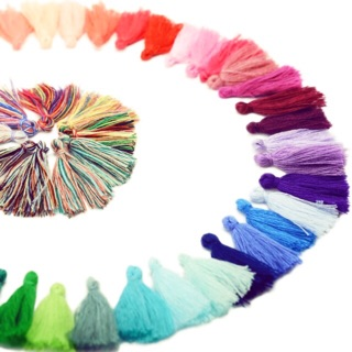 Cotton Tassel No.41-60 (12pcs) / DIY Craft Material / Earrings Accessories