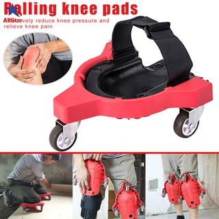 Knee Pads Rolling Wheels Mobile Flexible Gliding Protection for Work Construction Job Site
