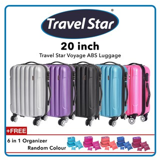 Travel Star Voyage ABS Luggage + 6 in 1 Organizer (Bundle)
