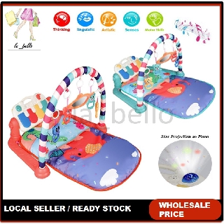 [FREE SHIPPING] Baby Toys Colourful Play Mat Musical Baby Piano Music Gym Playmat Bed For Toddler Early Education